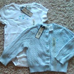 Baby set onesis & coat by Cherokee